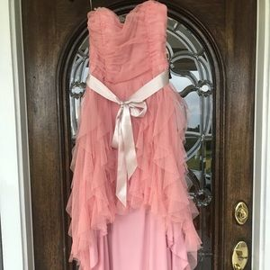 Dresses & Skirts - High low pink homecoming dress